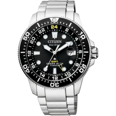 CITIZEN 星辰 限量 鈦 GMT光動能潛水錶-43mm(BJ7110-89E)