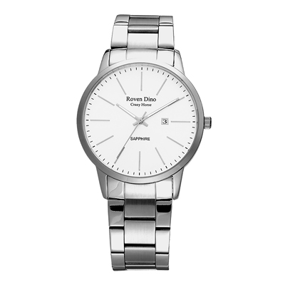 Roven Dino羅梵迪諾 伴點時尚風采日期女錶-銀X白(RD6064L-278W)
