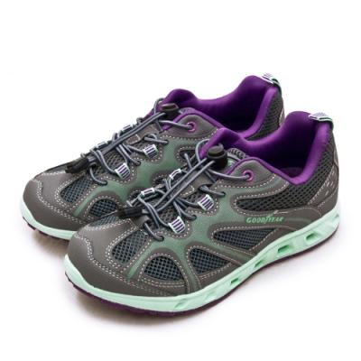 GOODYEAR 專業多功能排水機能戶外水陸鞋 WATER SHOES系列 灰綠紫 02638