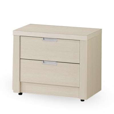 時尚屋  尤諾白雪杉1.8尺床頭櫃 寬55x深39.5x高48.5cm