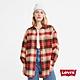 Levis 女款 工裝格紋襯衫外套 Oversize寬鬆版型 天絲棉 回收再造纖維 product thumbnail 1