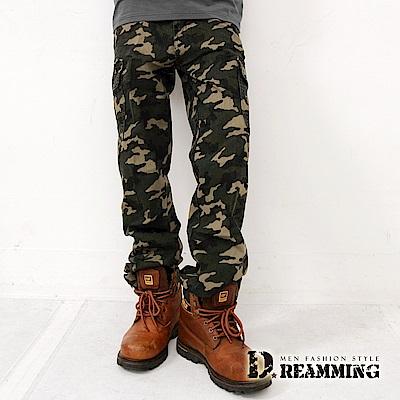 Dreamming BIGBANG天團穿搭迷彩休閒褲-軍綠
