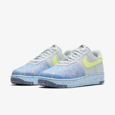Nike 休閒鞋 Air Force 1 Crater 女鞋 基本款 舒適 半透明鞋面 簡約 穿搭 灰 黃 CT1986001