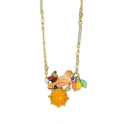 Les Nereides 動物花園系列 金絲雀橘色寶石項鍊