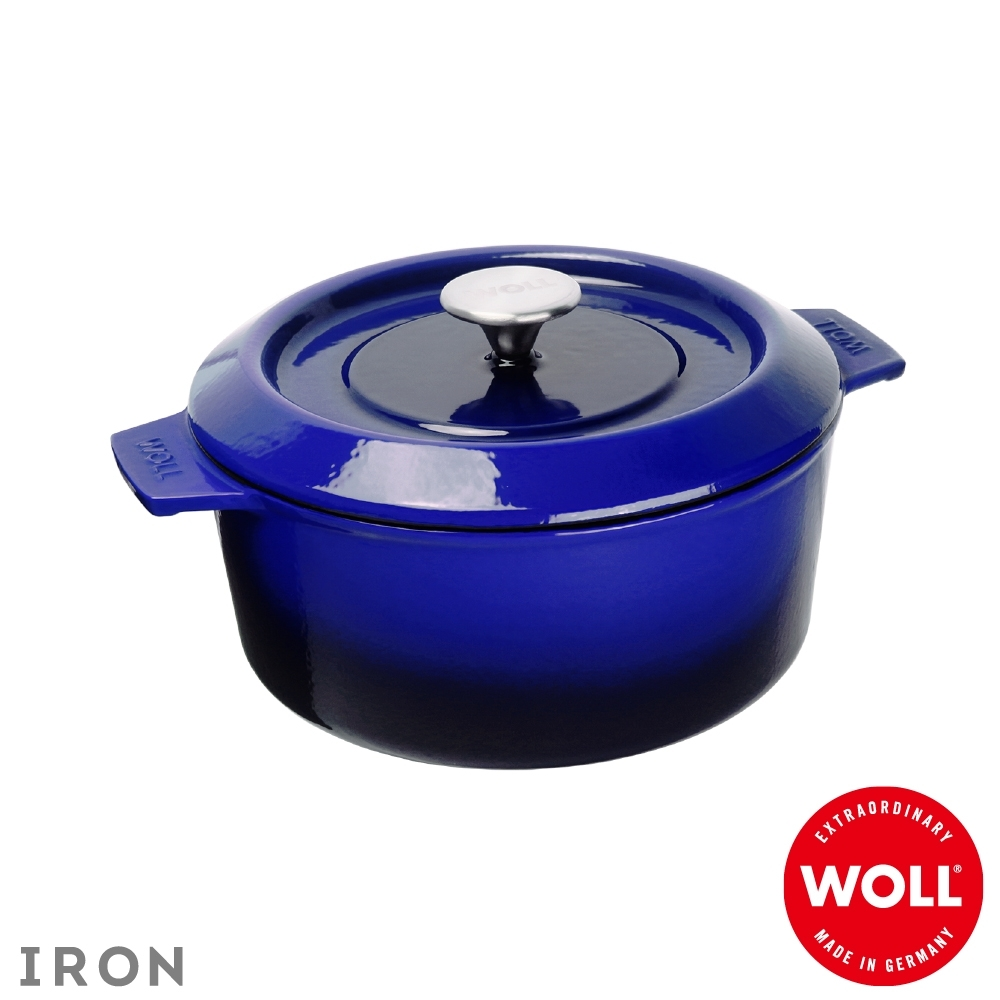 WOLL德國歐爾 IRON鑄鐵鍋24cm-藍