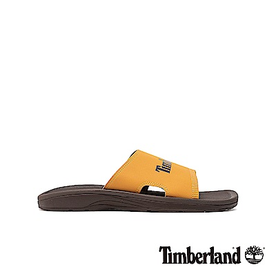 Timberland 男款小麥黃休閒平底拖鞋|A1YH7