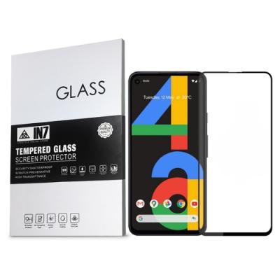 IN7 Google Pixel 4a (5.81吋) 高清 高透光2.5D滿版9H鋼化玻璃保護貼 疏油疏水 鋼化膜-黑色