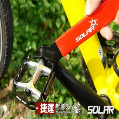 自行單車薄型腳踏板拆裝扳手工具.萬用超薄15.16.17mm開口板手飛輪單車拆卸踏板板手