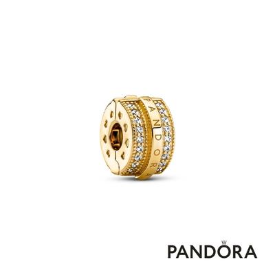 【Pandora官方直營】Pandora Signature閃耀寶石固定釦