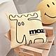 moz瑞典 北歐風雙面抱枕套(原創線條-陽光黃)45cm product thumbnail 1