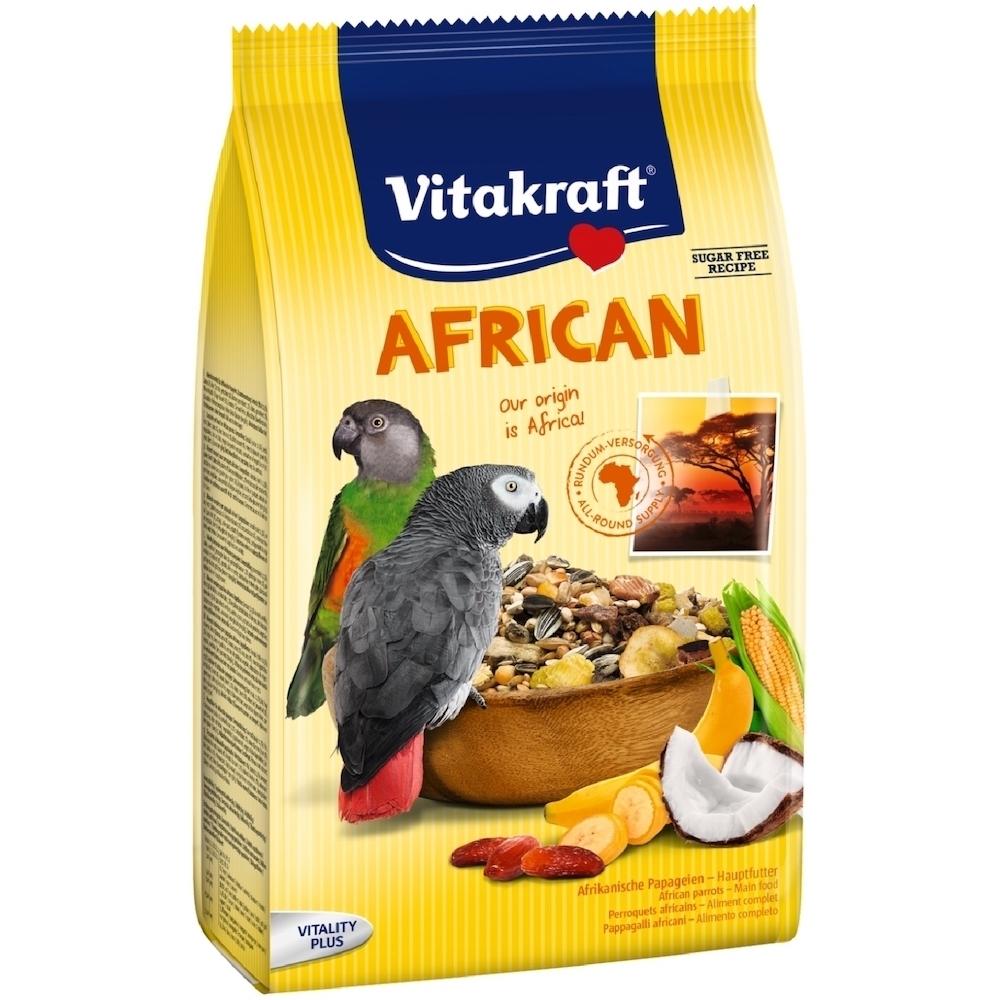 德國Vitakraft Vita-中大型鸚鵡-非洲鸚鵡總匯美食系列 (21640) 750g 兩包組