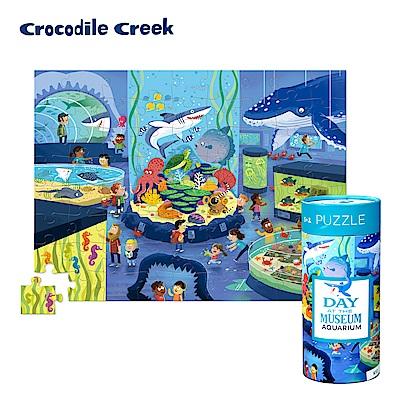 美國Crocodile Creek 博物館探索學習桶裝拼圖-海生館