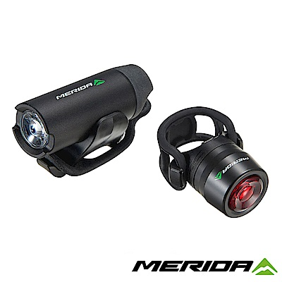 《MERIDA》美利達 USB鋁合金前後車燈組 黑 2127003712