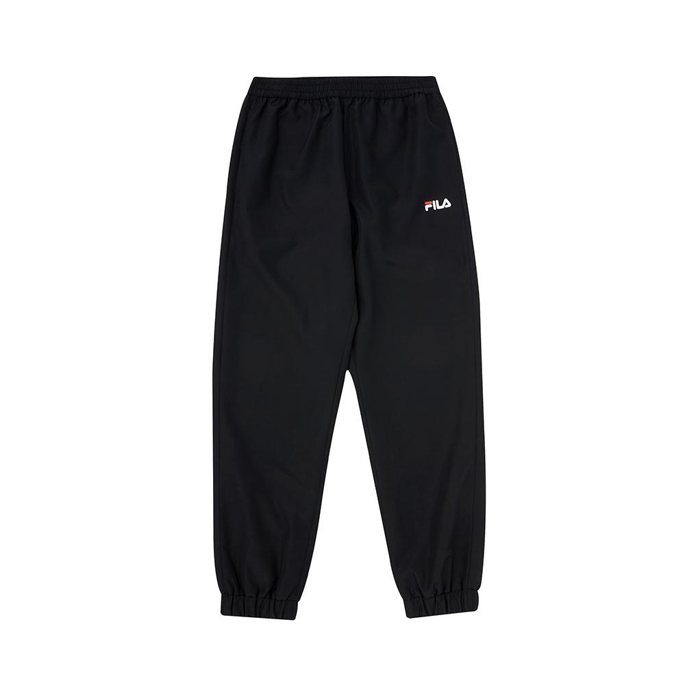 FILA KIDS 童平織長褲-黑色 1PNV-8907-BK