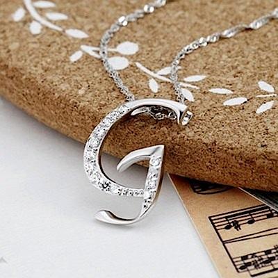 米蘭精品 925純銀項鍊-時尚簡約G英文字母