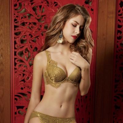曼黛瑪璉 Marie One 蕾絲內衣  B-E罩杯 (金棕黃)