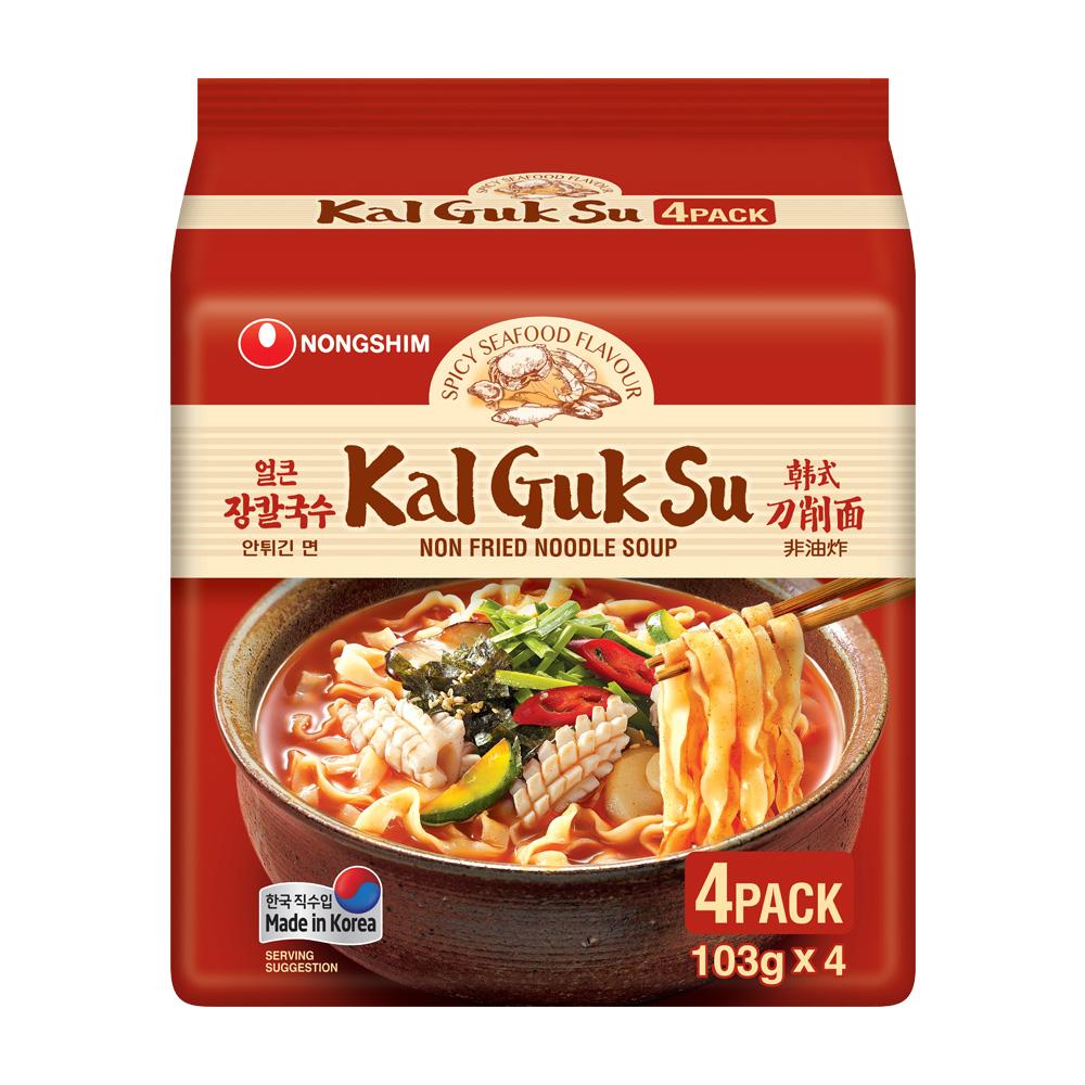 農心 韓式香辣海鮮味刀削麵(103g*4包)