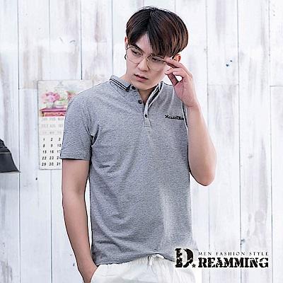 Dreamming 職人必備時尚萊卡彈力短POLO衫-共二色