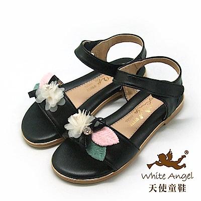 天使童鞋  愛麗絲花園涼鞋 J8011-10 黑