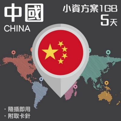 【PEKO】中國上網卡 5日高速4G上網 1GB流量 優良品質