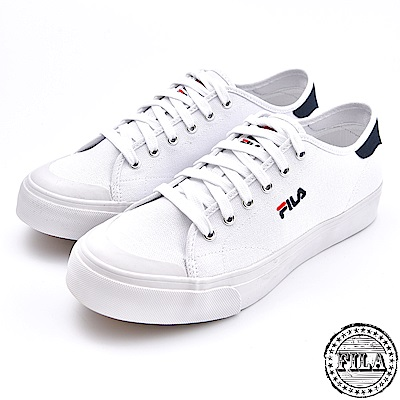 FILA 男款 刺繡小LOGO 帆布鞋 1 C910S 110