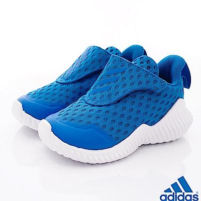 adidas童鞋 簡約輕便休閒鞋款 NI6885藍(小童段)