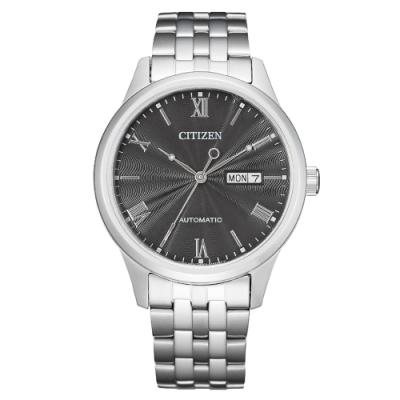 CITIZEN星辰Mechanical商務機械指針腕錶-黑40mm(NH7501-85H)