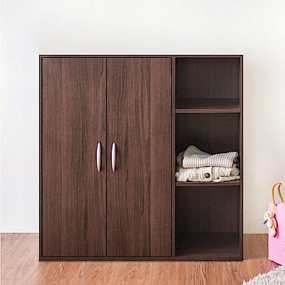 《HOPMA》DIY巧收二門三格組合式衣櫃