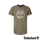 Timberland 男款暗灰色品牌印花短袖圓領T恤|A1NIQ