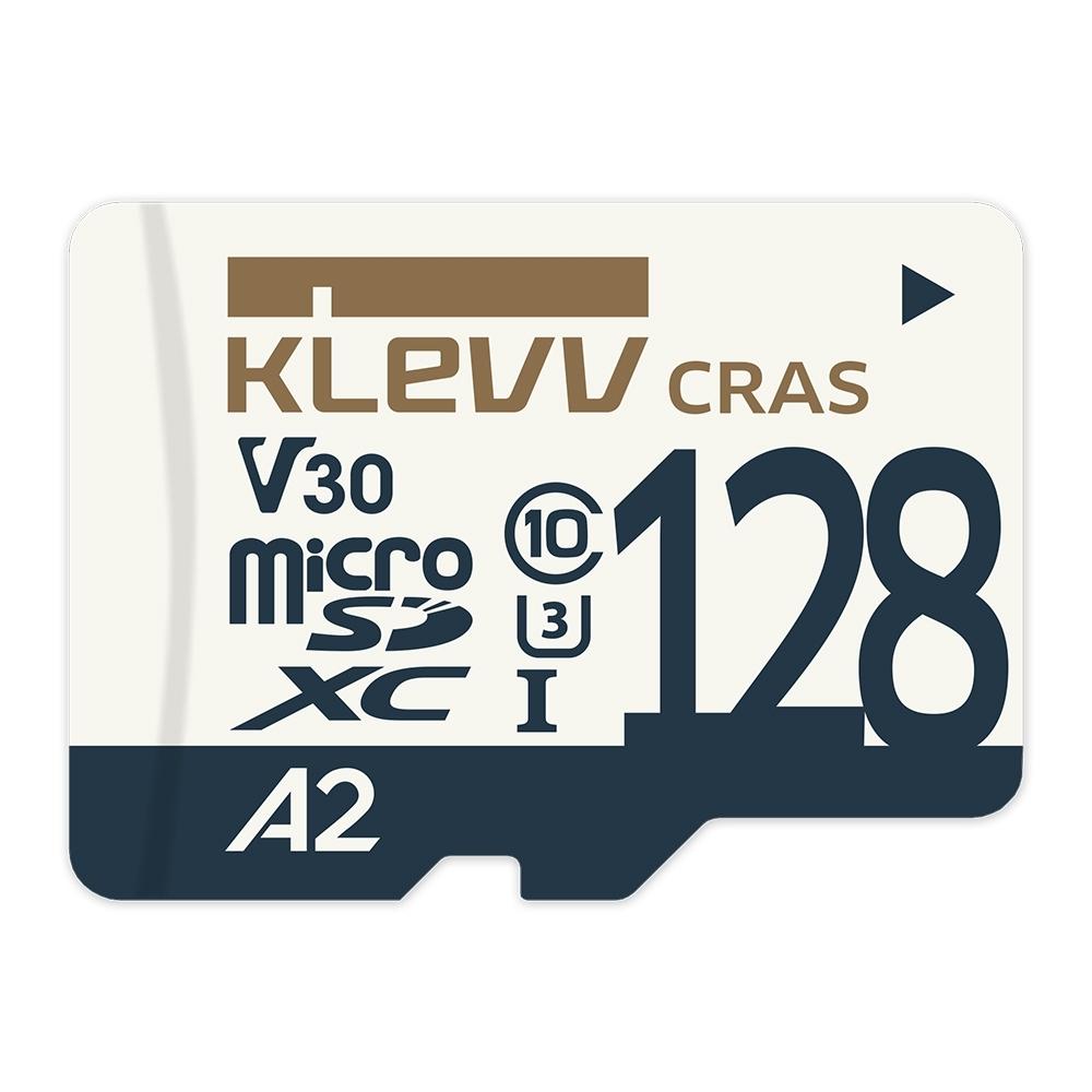 (3入組)KLEVV Micro SDXC UHS-1 U3 V30 A2 128GB 記憶卡