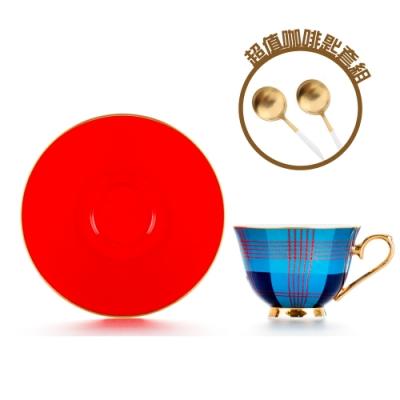 Royal Duke 骨瓷濃縮咖啡對杯-蘇格蘭 (限量咖啡點心匙套組)