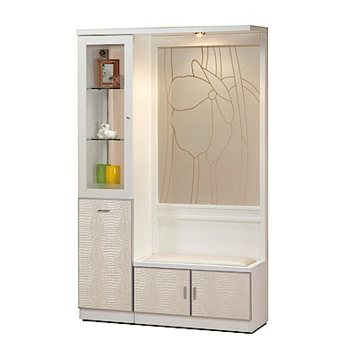 綠活居 米柏亞4尺四門屏風雙面櫃/玄關櫃(二色)-118.5x39x195cm-免組