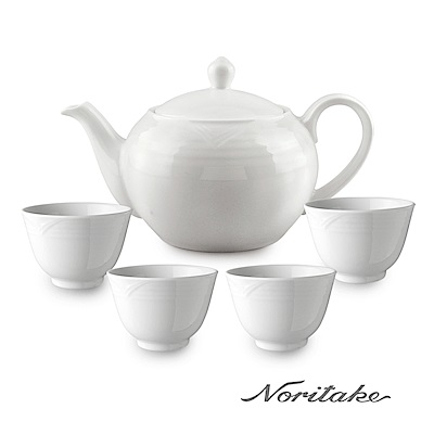 Noritake 詩羅恩茶壺+茶杯5件組