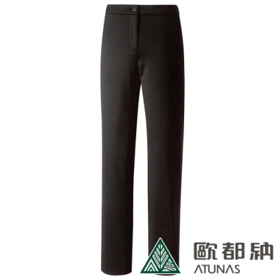 【ATUNAS 歐都納】女WINDSTOPPER防風保暖長褲A1-PA1829W黑