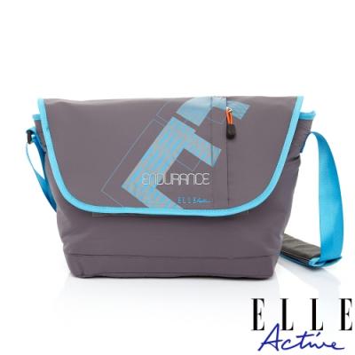 ELLE Active 自信系列-郵差包/斜背包/側背包-灰色