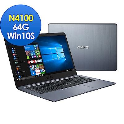 ASUS E406MA 14吋窄邊框筆電 (N4100/4G/64G EMMC/LapTop/Win10S/星空灰)