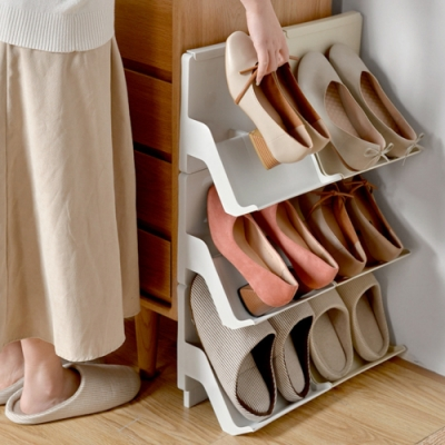 蜈蚣族必備 疊疊樂立式組合鞋架(六個)