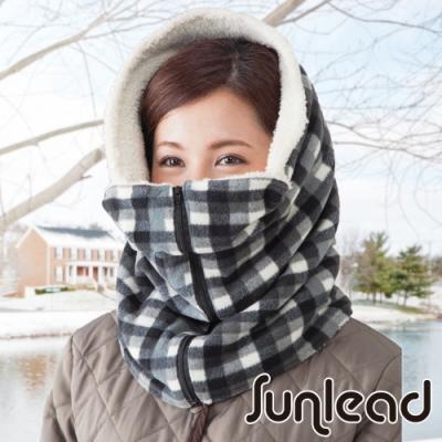 Sunlead 防寒防風多機能可塑型保暖頭套/面罩/脖圍 (黑灰格紋)