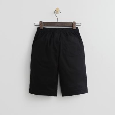Hang Ten - 男童 - 純色打褶休閒短褲-黑