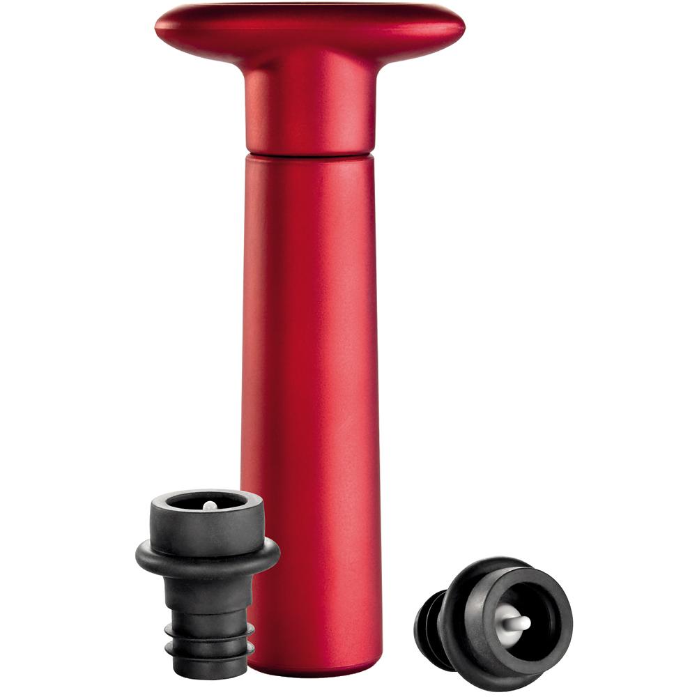 《TESCOMA》抽真空器+2瓶塞組(紅)