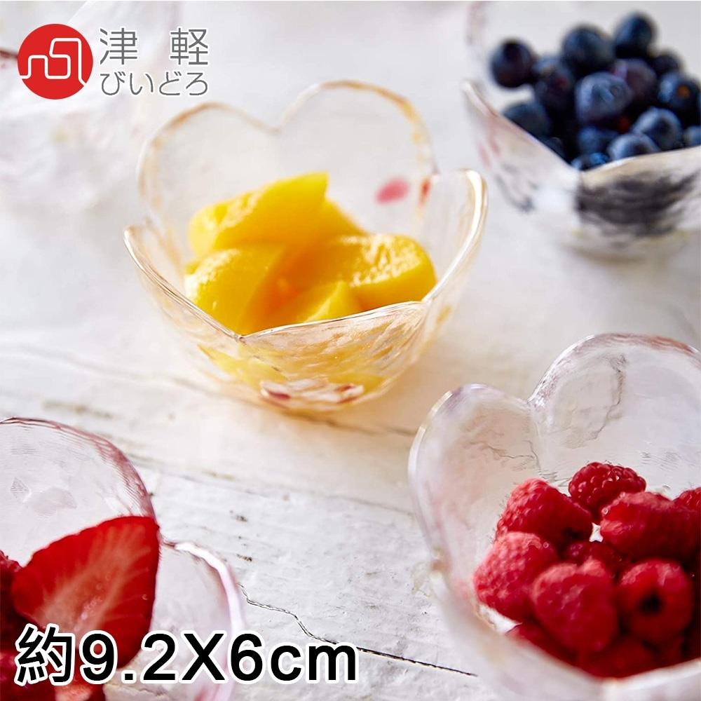 ADERIA 日本進口津輕系列手作蘋果玻璃小碗5件/組
