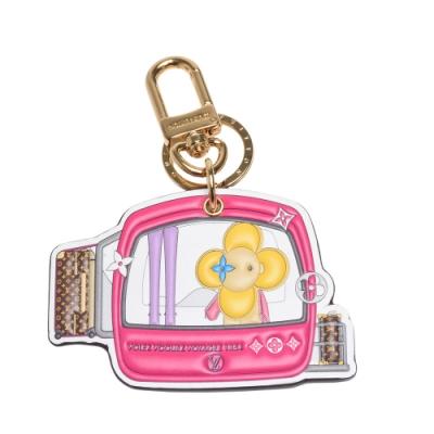 LV M68653 經典VIVIENNE XMAS吉祥物Monogram帆布吊飾/鑰匙圈