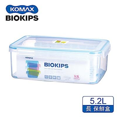 KOMAX 碧兒扣密封PP保鮮盒-長方形5.2L(附濾片)