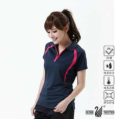 【遊遍天下】MIT女款抗UV吸濕排汗機能POLO衫S113丈青