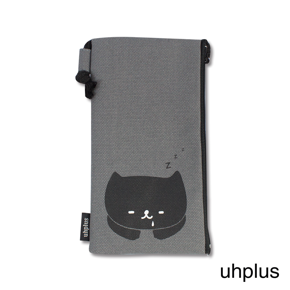 uhplus 手機袋-喵日常 睡午覺(灰)