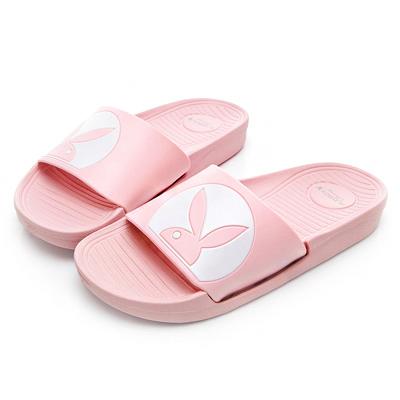PLAYBOY 經典兔頭率性休閒拖鞋-粉-YT50899