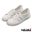 Miaki-休閒鞋復刻經典平底運動鞋-米