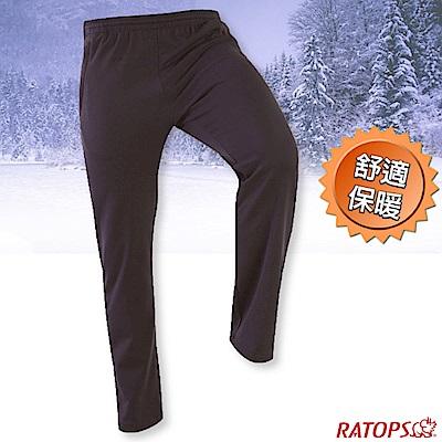 瑞多仕-RATOPS 中性款 刷毛保暖長褲(素色拉鍊)_DB6024 宇宙藍