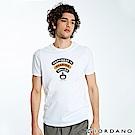 GIORDANO 男裝英文標語印花短袖T恤-09 標誌白