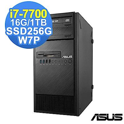 ASUS 7代 i7 工作站 i7-7700/16G/1TB+256G/W7P